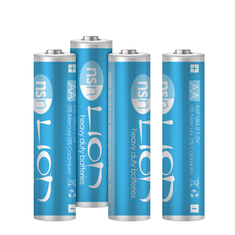 Lion - 4pk Zinc Batteries AA