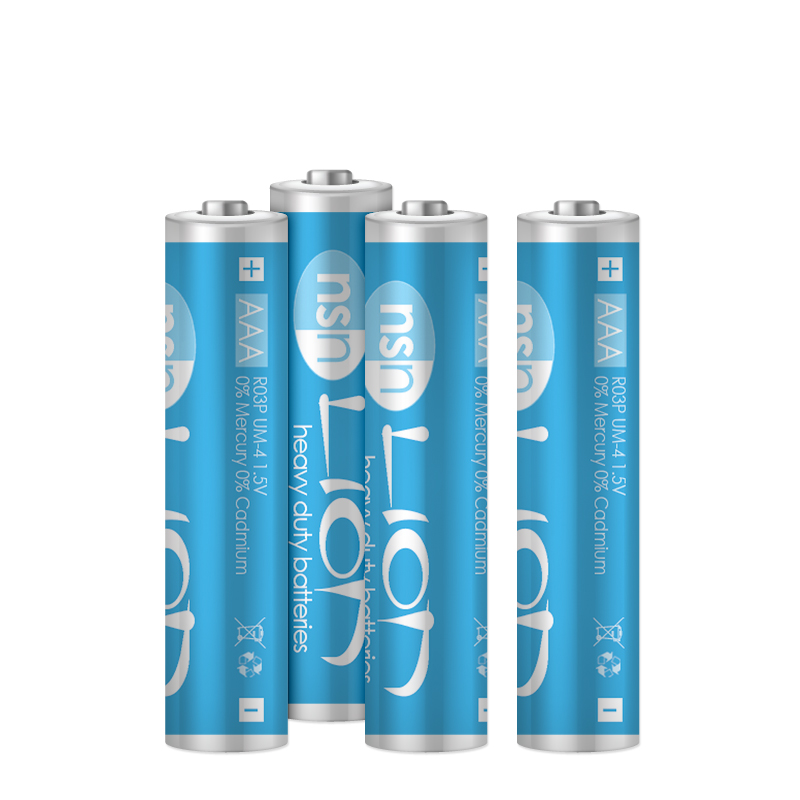 Lion - 4pk Zinc Batteries AAA